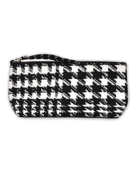 Motel Zip Mini Pencil Case in Hounds Tooth Black and White