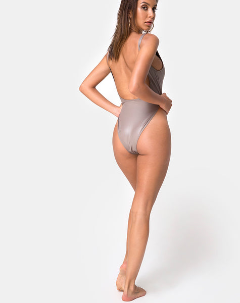 Polaris Backless Swimsuit in Coco by Motel