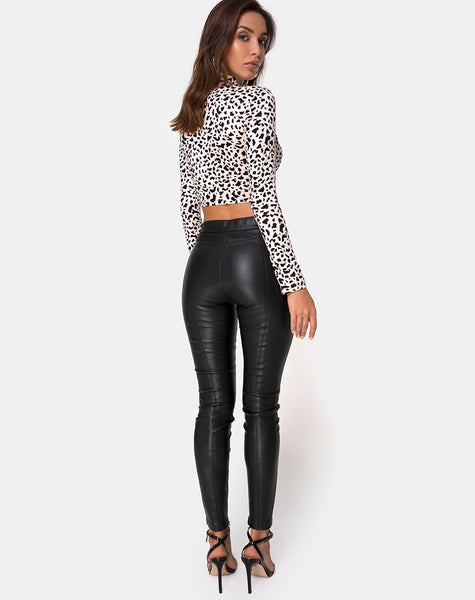Rajika Crop Top in Wild Thing by Motel