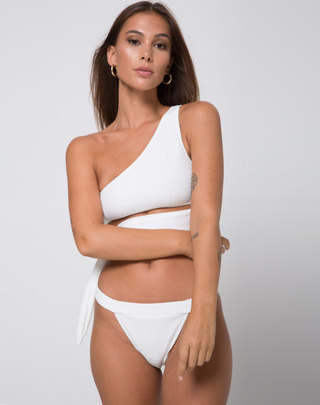 Grifin Bikini Top in Triple Stripe by Motel