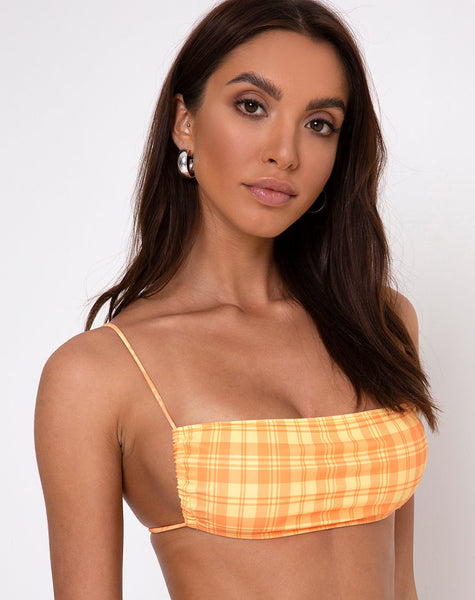 Reema Tube Bikini Top in Checking it Out Orange