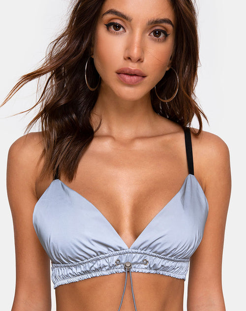 Mera Top in Reflective Silver by Motel