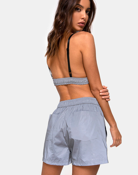 Aruna Short in Reflective Silver by Motel