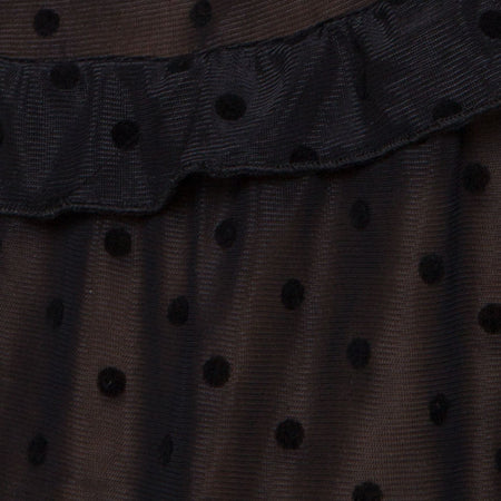 Remy Midi Dress in Polka Net black by Motel