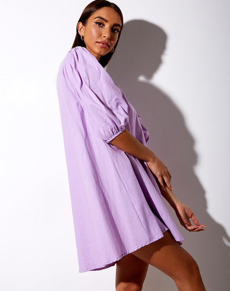 Elna Babydoll Dress in Lilac