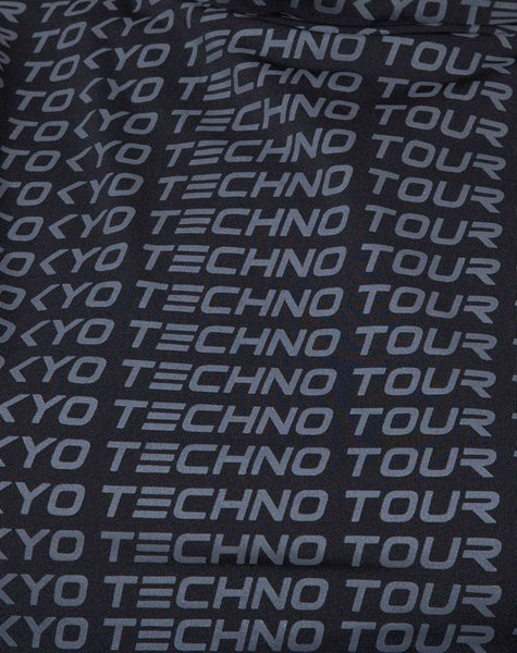 Rhala Crop Top in Tokyo Techno Tour Black by Motel