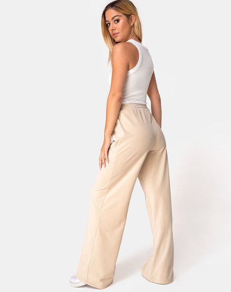 Obeli Trouser in Rib Cream by Motel