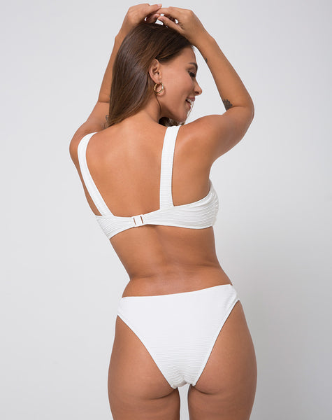 Ribel Bottom Bikini Multi Rib Textured Ivory by Motel