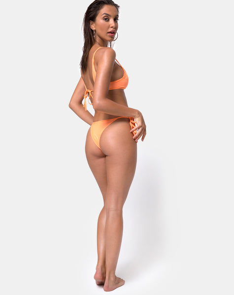 Riskita Bikini Bottom in Highlighter Orange by Motel