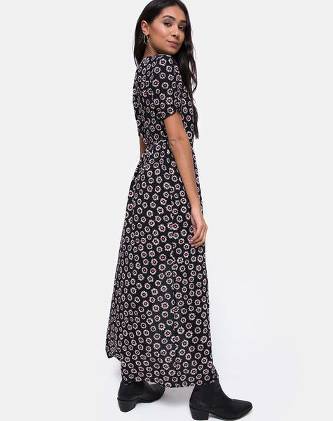 Riva Maxi Dress in Dancing Daisy by Motel