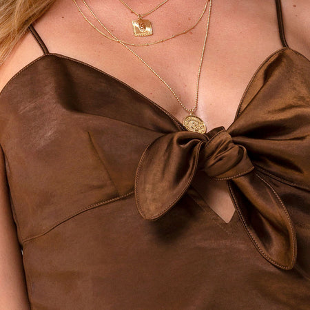 Roce Top in Satin Chocolate by Motel