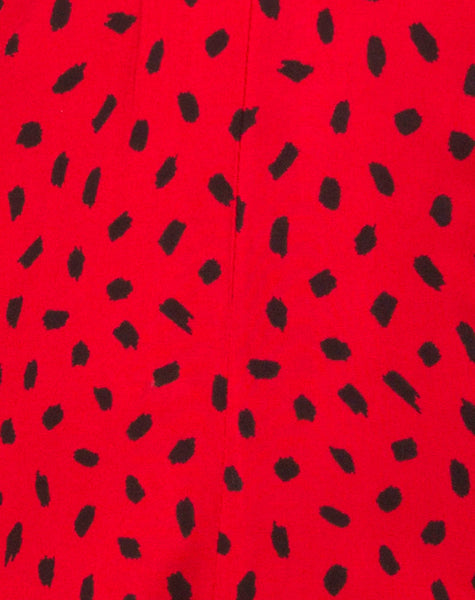 Romalo Playsuit in Mini Diana Dot Red and Black by Motel