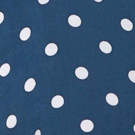 Roppan Slip Dress in Medium Polka Navy by Motel