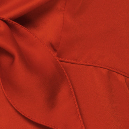 Roppan Slip Dress in Satin Rust