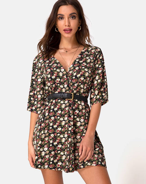 Rosella Swing Dress in Courtney Floral by Motel