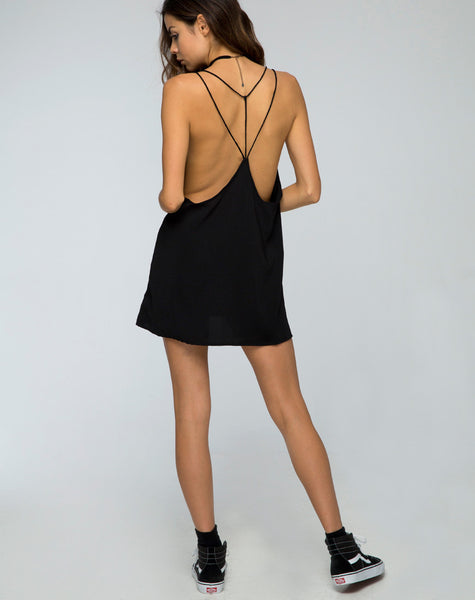 Royce Slip Dress in Black by Motel