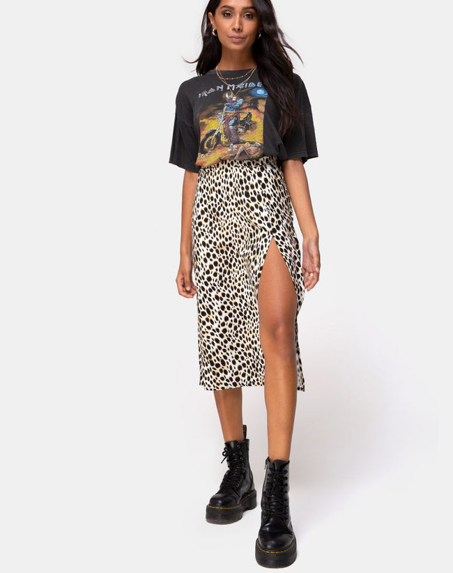 Saika Midi Skirt in Cheetah