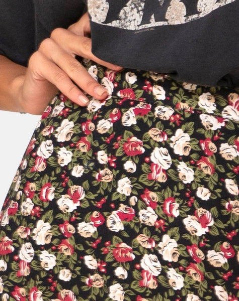 Saika Skirt in Courtney Floral by Motel