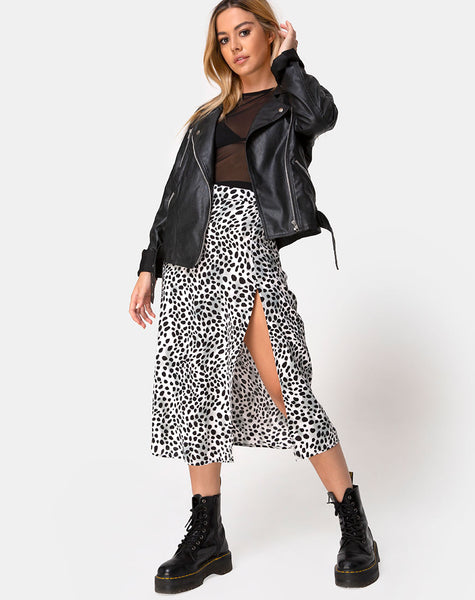 Saika Midi Skirt in Dalmatian by Motel