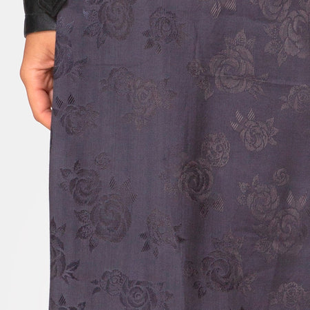 Saika Midi Skirt in Satin Rose Grey