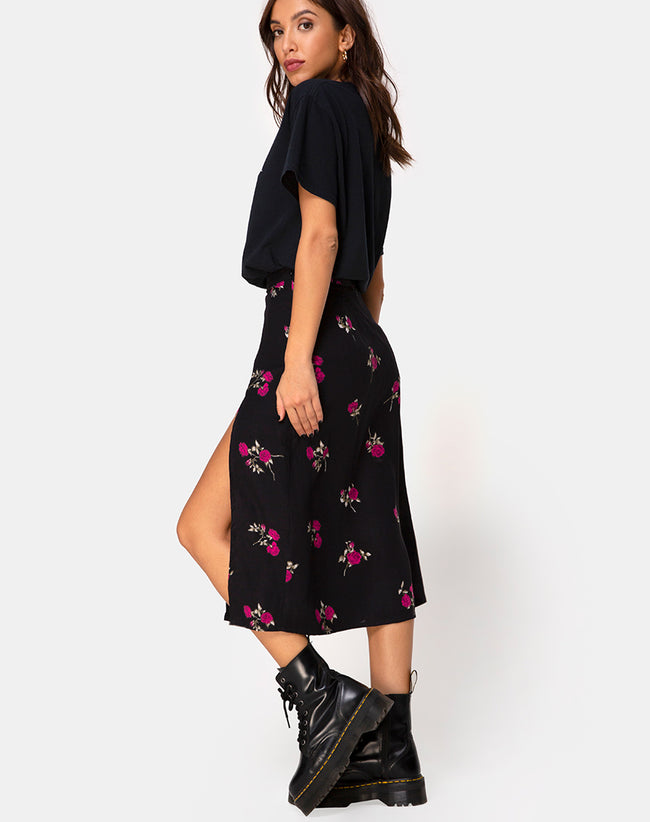 Saika Skirt in Grunge Rose by Motel