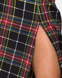 Saika Skirt in Plaid Red Green Yellow Black