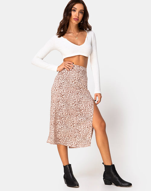 Saika Skirt in Safari Taupe by Motel