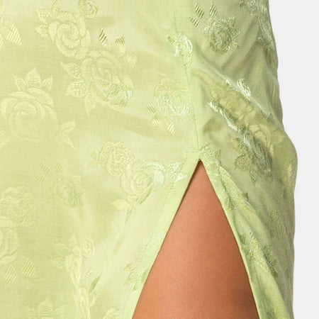 Saika Midi Skirt in Satin Rose Lime