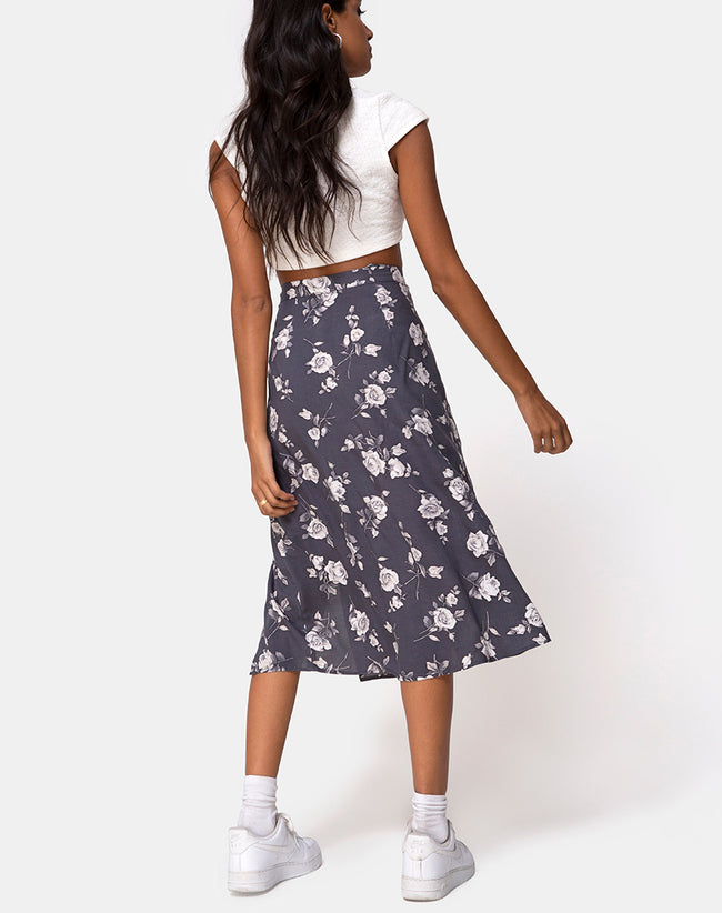 Saika Skirt in White Rose Grey by Motel
