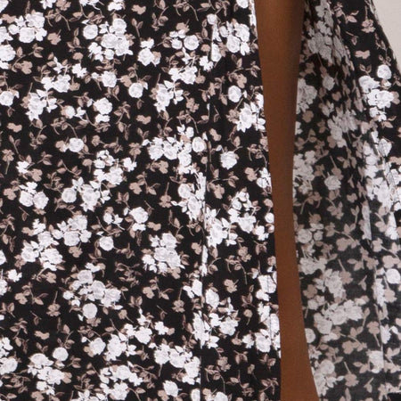 Saika Midi Skirt in Dark Wild Flower