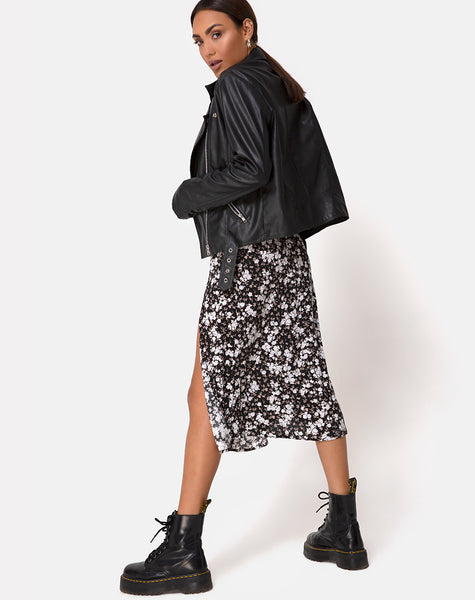 Saika Midi Skirt in Dark Wild Flower by Motel