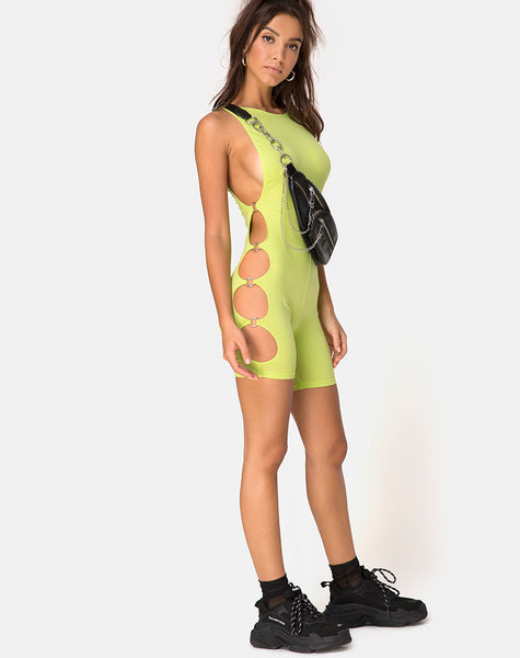 Salva Unitard in Lime by Motel