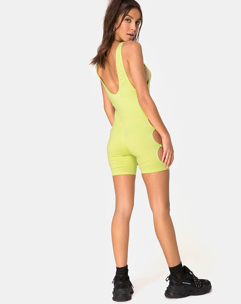 Salva Unitard in Lime
