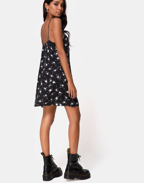 Sanna Slip Dress in Dark Tulip by Motel