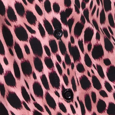Sanna Slip Dress in Pink Cheetah by Motel