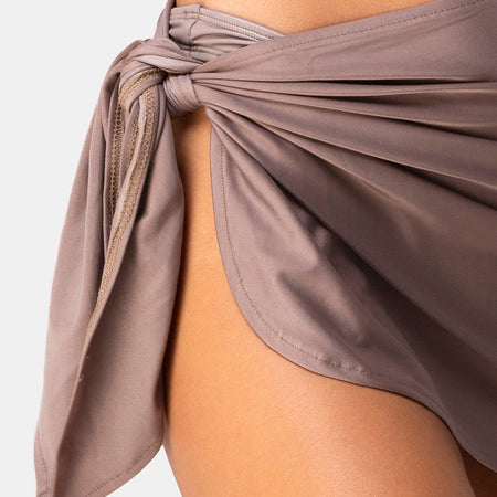 Sarong Swim Skirt in Cocoa by Motel