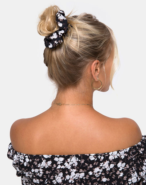 Scrunchie in Dark Wild Flower by Motel
