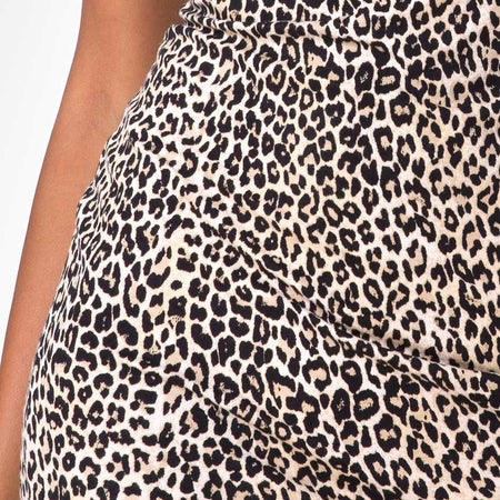 Selah Bodycon Dress in Rar Leopard Brown by Motel