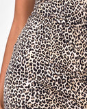 Selah Bodycon Dress in Rar Leopard Brown
