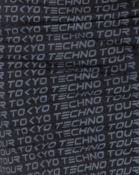 Selah Bodycon Dress in Tokyo Techno Tour Black