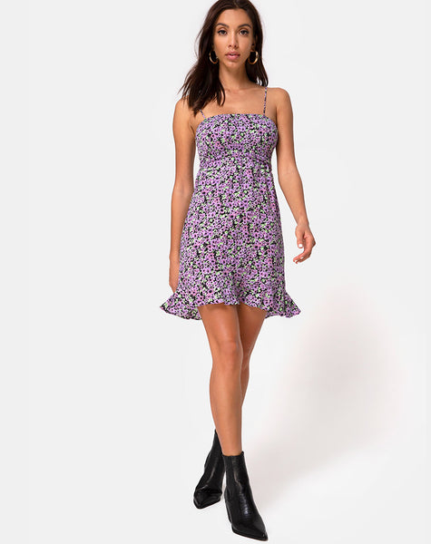 Seldre Mini Dress in Lilac Blossom by Motel