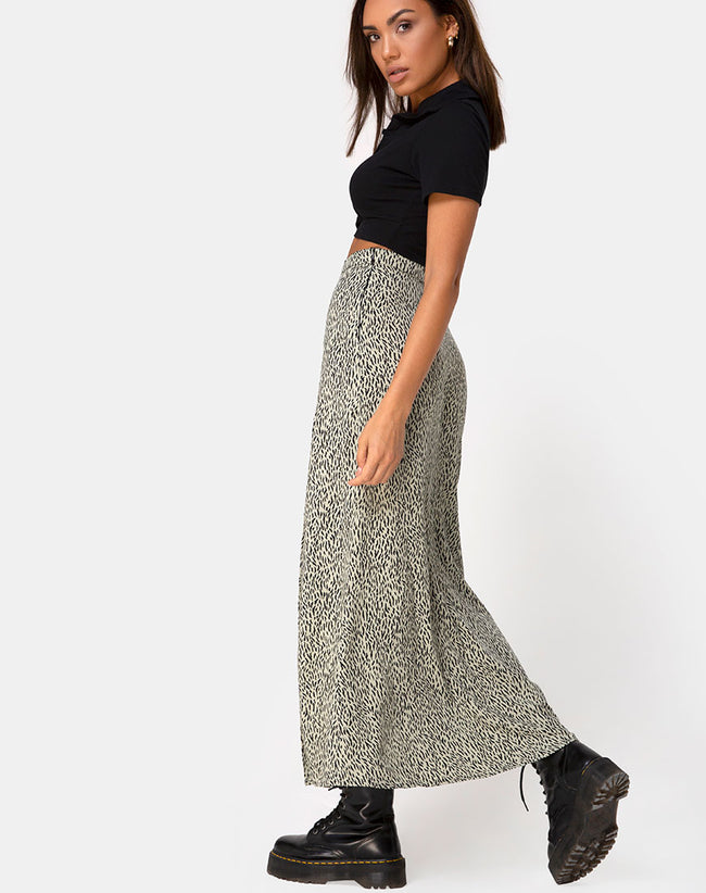 Shayk Maxi Skirt in Mini Jaguar by Motel