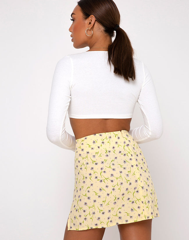 Sheny Mini Skirt in Wild Flower Lemon Drop