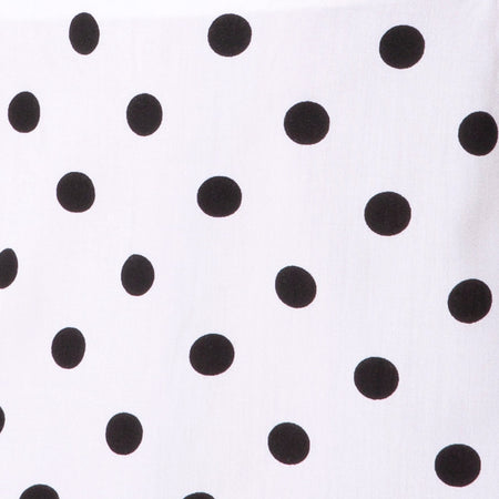 Sheny Mini Skirt in 80's Polka White