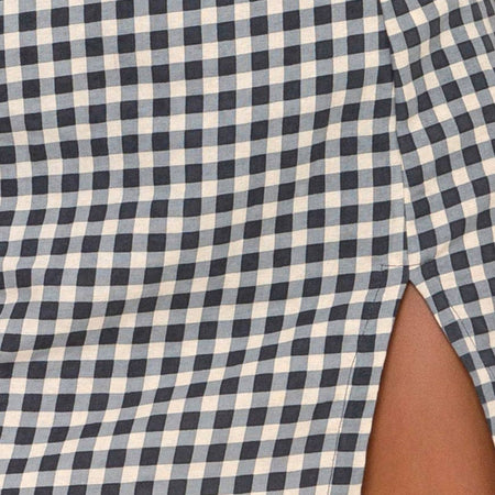 Sheny Mini Skirt in Gingham Cream