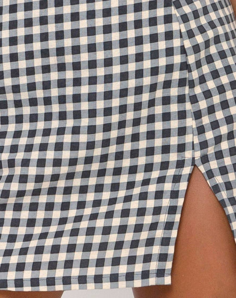 Sheny Mini Skirt in Gingham Cream by Motel