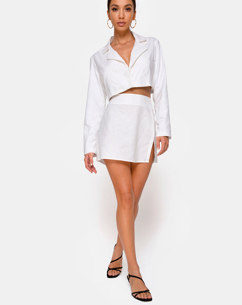 Sheny Mini Skirt in Ivory by Motel