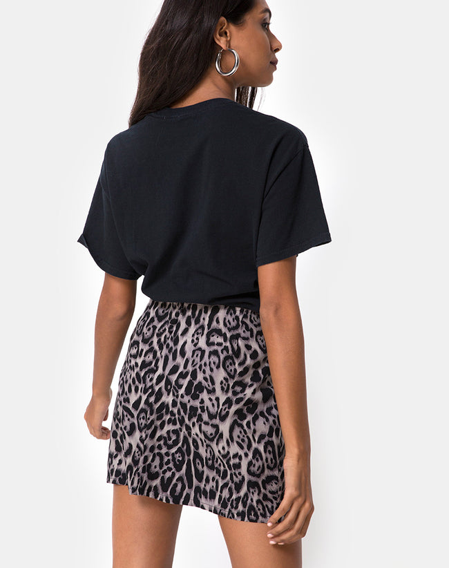 923f2746ec7 Sheny Mini Skirt in Leopard Grey by Motel