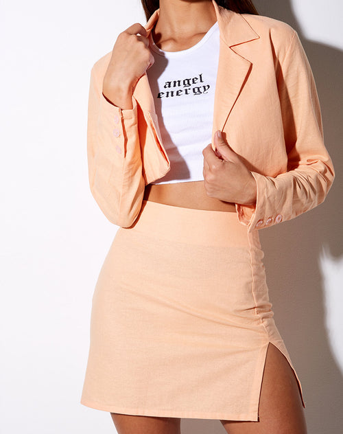 Sheny Mini Skirt in Soft Cantaloupe