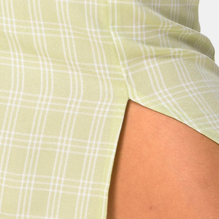 Sheny Mini Skirt in Sage Check by Motel